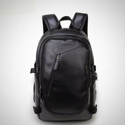 Waterproof 15.6 inch leather laptop backpack