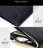 Genuine leather slim thin wallet
