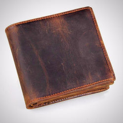 100% genuine leather wallet vintage style