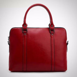 Genuine leather women's business briefcase