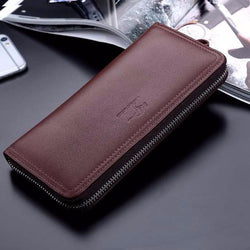 Genuine leather wallet male clutch purse
