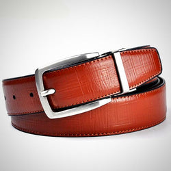 Reversible Pin Buckle leather belt high quality