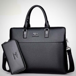 "Fashion PU leather business 14"" laptop briefcase"