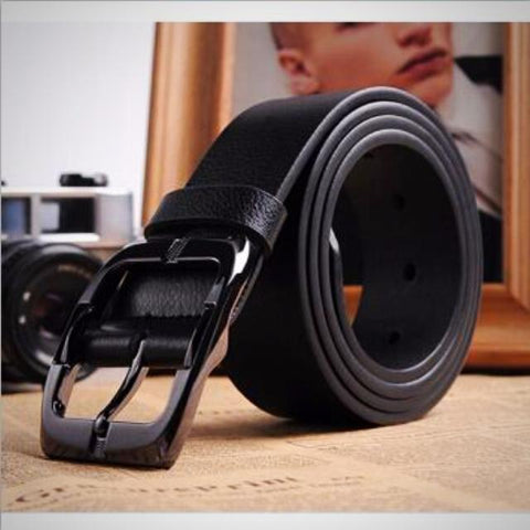 Business casual genuine leather belt
