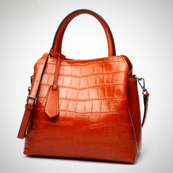 Genuine leather tote handbag crossbody bag