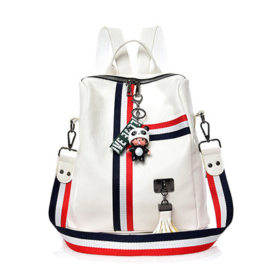 Casual style PU leather travel backpack