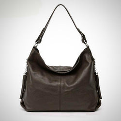 High quality genuine leather hobo fashion tote bag