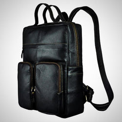 Real leather fashion travel backpack