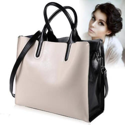 Genuine leather large handbag and crossbody bag