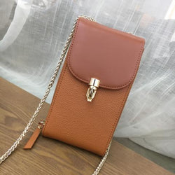 Genuine Leather Crossbody Mobile Phone Purse