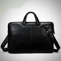 Genuine Cow Leather Laptop Business Travel Bag