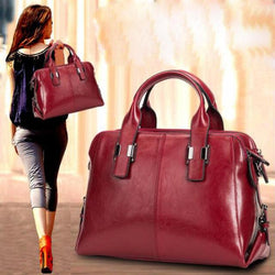 Genuine Leather Functional Handbag