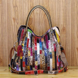 Fashion & Colorful Genuine Leather Handbag