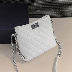 Plaid Chain Fashion PU Leather Crossbody Bag