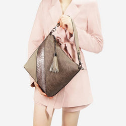 Snake Pattern PU Leather Hobo-Handbag
