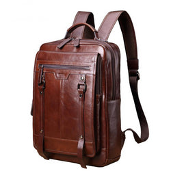Business and Travel Genuine Leather Backpack