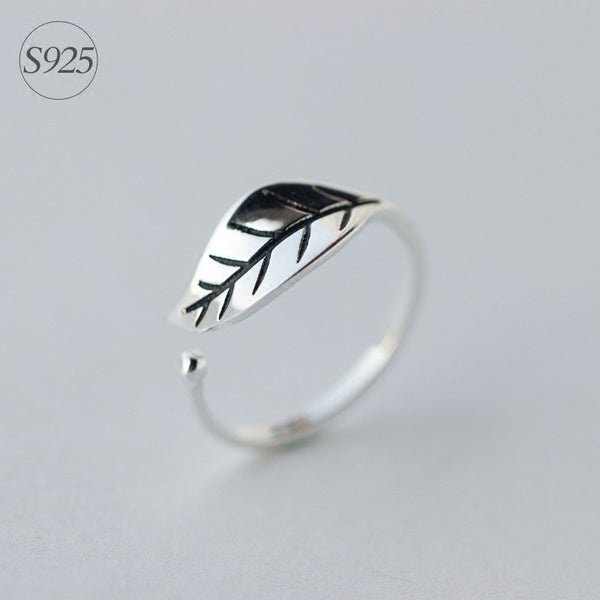 Adjustable Leaf shape Toe Ring 925 Sterling Silver Jewelry - Flashy Feet