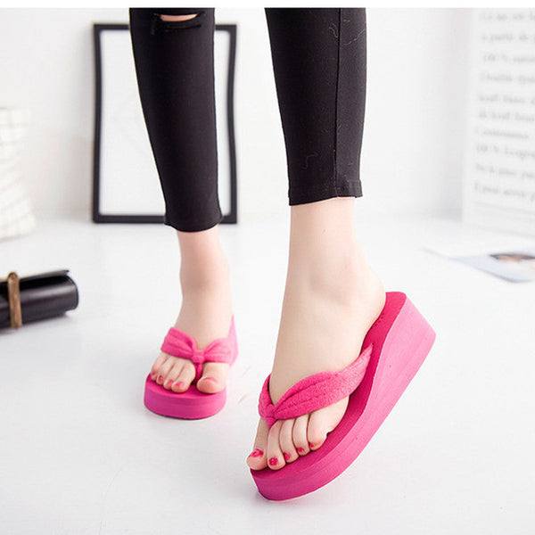 Flip Flops Wedges Platform Slippers