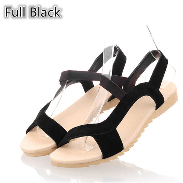 High Quality Cow Suede Nubuck Leather Women Sandals