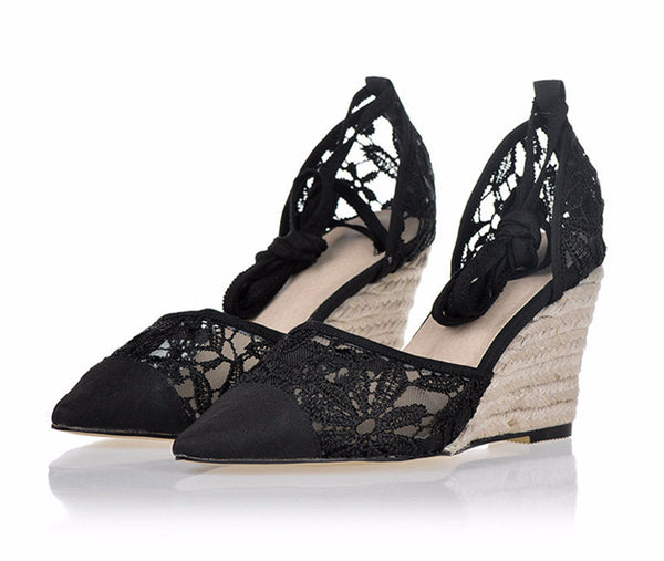High Heel Lace Summer Shoes for Sexy Ladies
