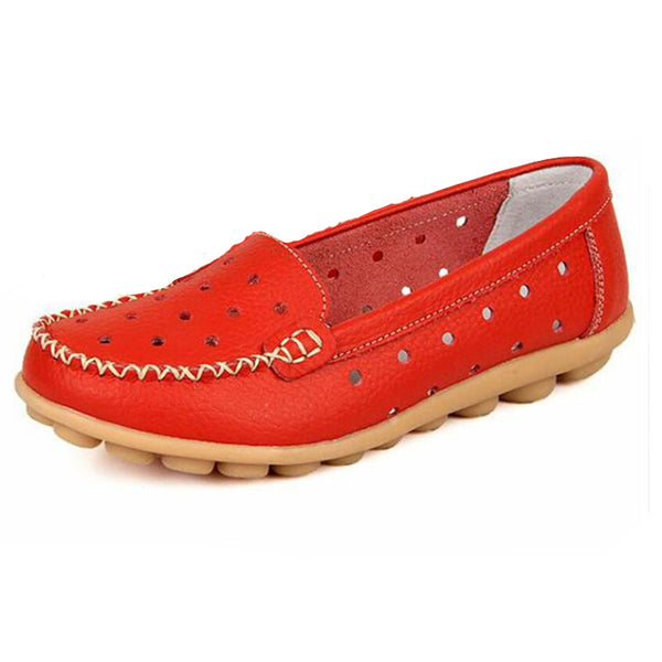 Soft Geniune Leather Moccasins Plus Size 35-41 Pcd34