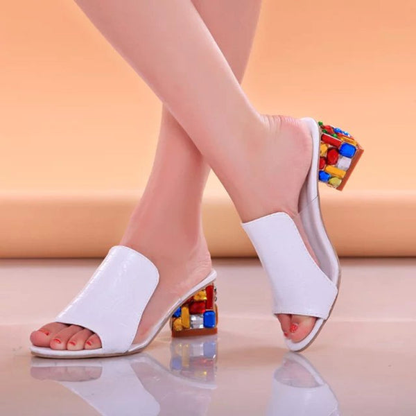 Sexy Open Toe Wedge Slides Shoes