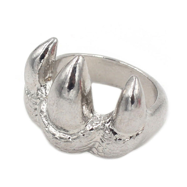 Punk Silver Eagle Claw Texture Zinc Alloy Toe Rings