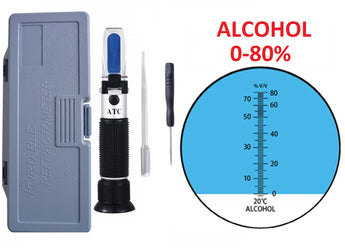 ATC 0-80% V/V Alcohol Refractometer Alcohol Wort Specific Gravity Beer Fruit Juice Wine Sugar Test