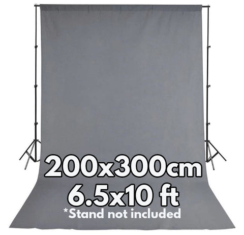Pxel AA-ML2030GRY 200x300 cm Seamless Muslin Background Cloth Backdrop Gray 6.5 x 10 Feet