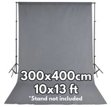 Pxel AA-ML3040GRY 300x400 cm Seamless Muslin Background Cloth Backdrop Gray 10x13 Feet