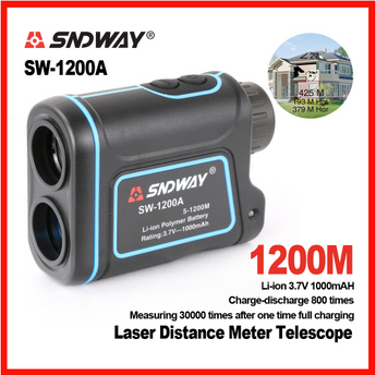 SNDWAY SW-1200A Telescope Rangefinder 1200 meters Handheld Outdoor Range Finder