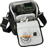 Lowepro Apex 120 AW Shoulder Bag - for Digital SLR Camera with Lens Attached, plus Accessories (Black)