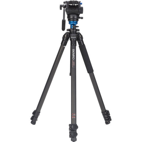 Benro C2573FS4 S4 Carbon Fiber Video Tripod with Head and CF Flip Lock Legs Kit