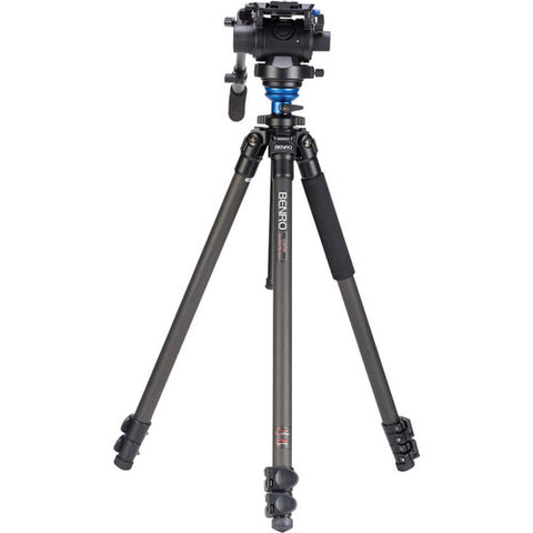 Benro C3573FS6 S6 Carbon Fiber Video Tripod with Head and CF Flip Lock Legs Kit