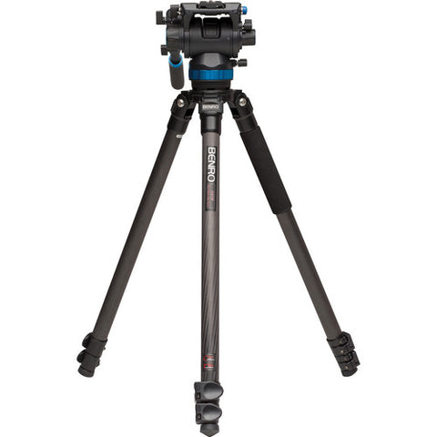 Benro C373FBS8 S8 Carbon Fiber Video Tripod with Head and CF Flip Lock Legs Kit