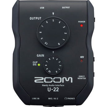 Zoom U-22 - USB Mobile Recording and Performance Interface