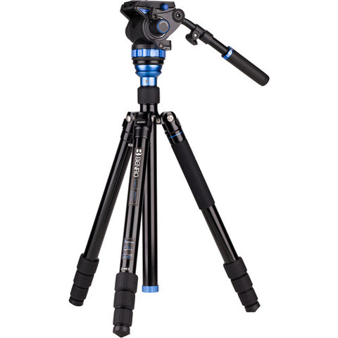 Benro A3883TS7 Aero 7 Video Travel Tripod Kit with Video Fluid Head