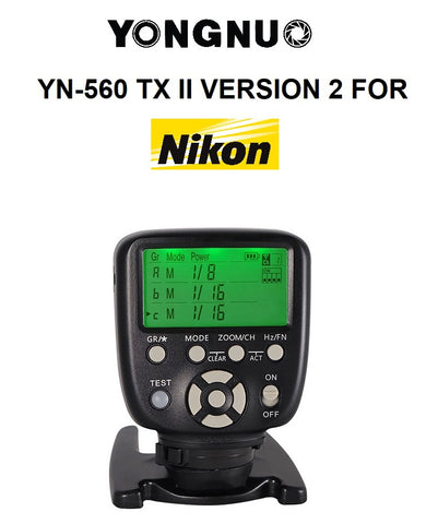 Yongnuo YN560 TX II Version 2 Manual Flash Controller for Nikon Cameras