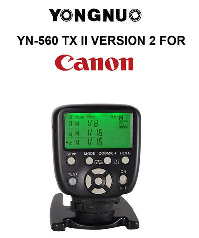Yongnuo YN560 TX II Version 2 Manual Wireless Flash Controller Transmitter for Canon
