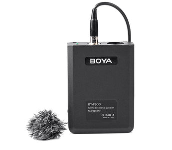 Boya BY-F8OD Professional Omni Directional Lavalier Video/instrument Microphone for Camera Camcorder Record