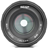 Meike 35MM F/1.4 Large Aperture Manual Focus Lens for E Mount Sony APS-C
