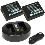 Wasabi Power Battery for Fujifilm NP- W126 (2-Pack) and Dual Charger