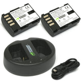 Wasabi Power Battery for Panasonic DMW-BLF19 (2-Pack) and Dual Charger