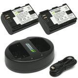 Wasabi Power Battery for Canon LP-E6 (2-Pack) and Dual Charger