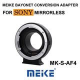 Meike MK-S-AF4 Auto Focus Mount Lens Adapter Ring for Sony Micro Single Camera to Canon EF/EF-S camera
