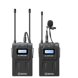 Boya BY-WM8 Pro K1 UHF Dual Channel wireless Lapel Receiver with One Lavalier Microphone Transmitter
