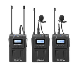Boya BY-WM8 Pro UHF Dual Channel Wireless Lapel with Lavalier Microphone