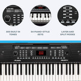 Alesis Melody 54-Key Electric Keyboard Piano with Speakers, Microphone, Music Rest, Educational Tools, Sounds