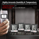 ThermoPro  TP-49-B TP49B Mni Hygrometer Thermometer with Large Digital View
