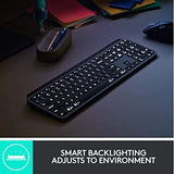 Logitech MX Keys Advanced Wireless Illuminated Keyboard, Graphite